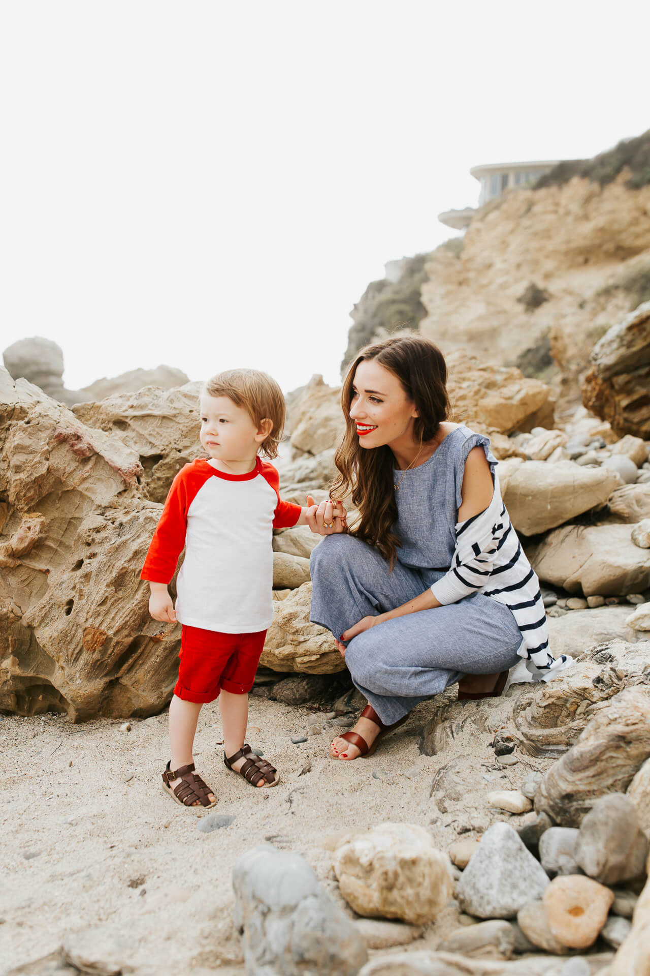 I adore these matching mother and son outfits! | M Loves M @marmar