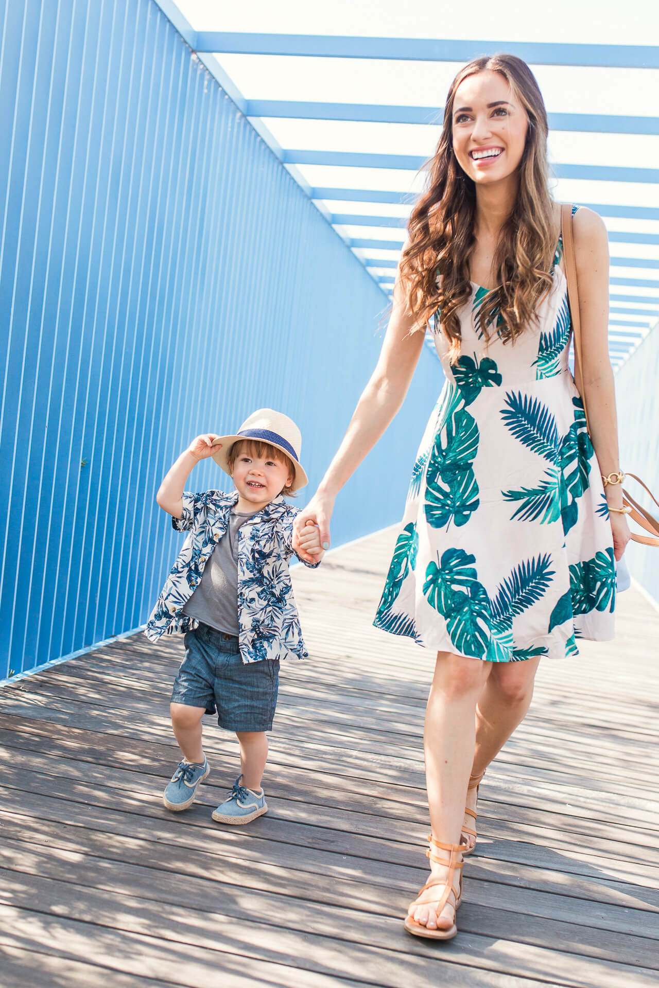I love this pink palm leaf dress from Old Navy! | M Loves M @marmar