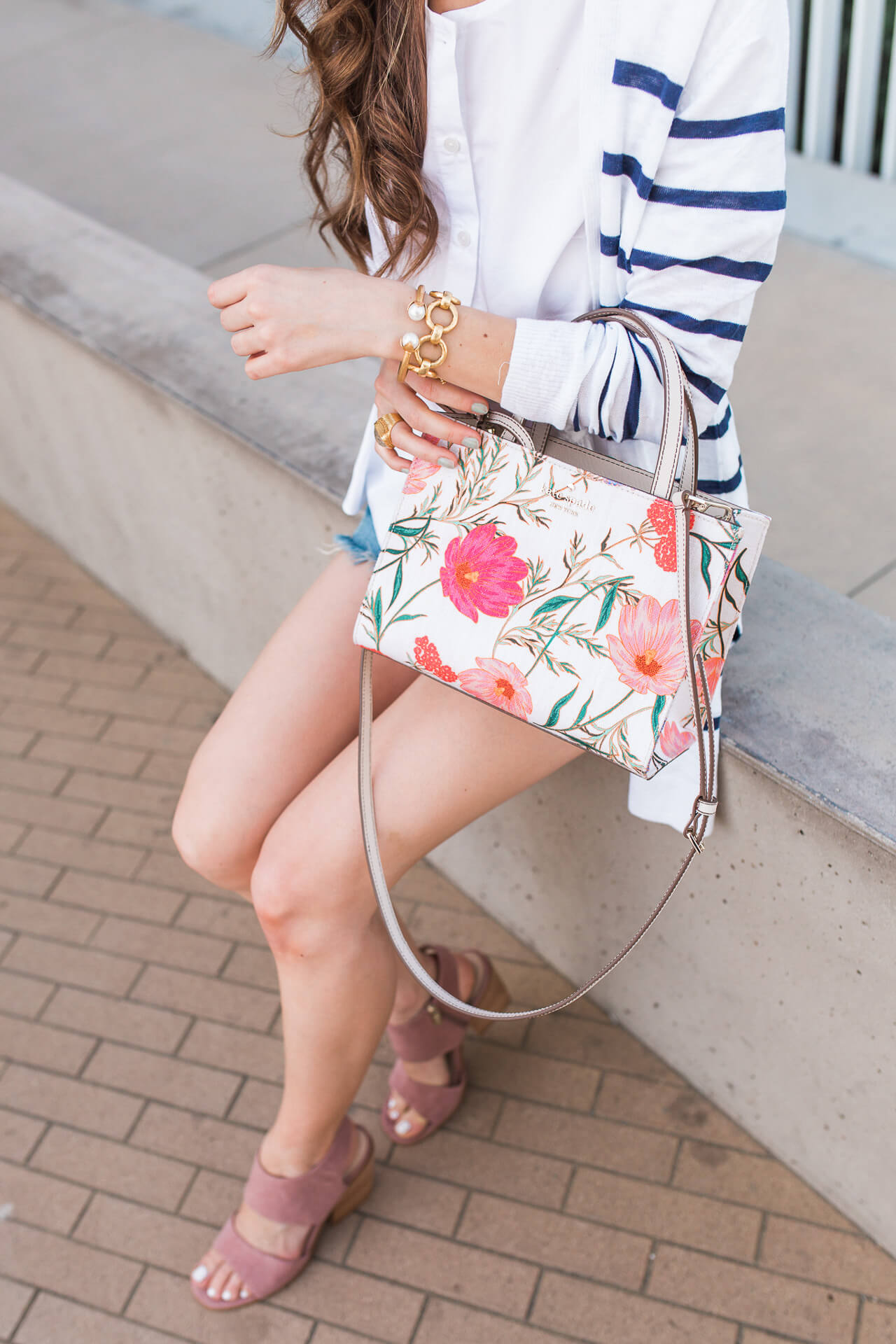 The prettiest floral Kate Spade bag! | M Loves M @marmar