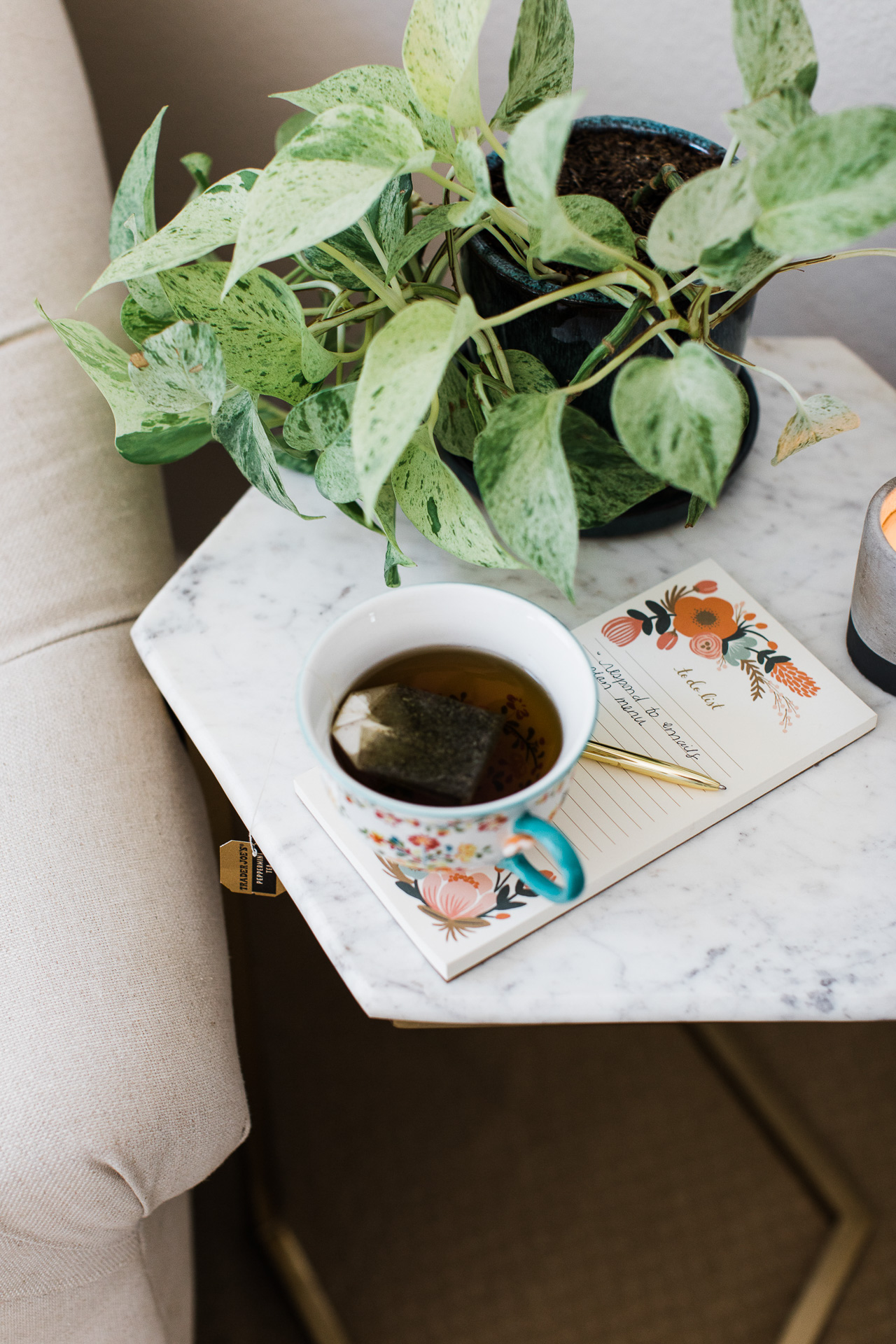 My calming nighttime routine always involves tea. | M Loves M @marmar