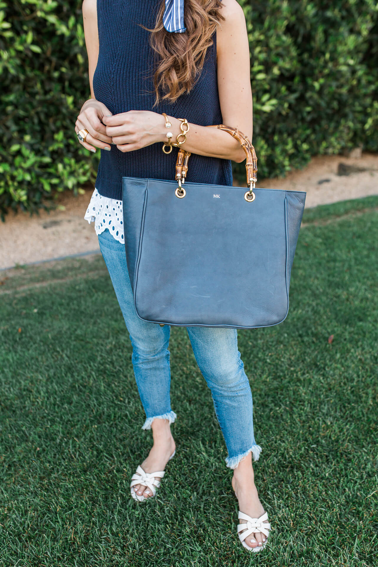 This black leather tote bag is one of my work style must haves! | M Loves M @marmar
