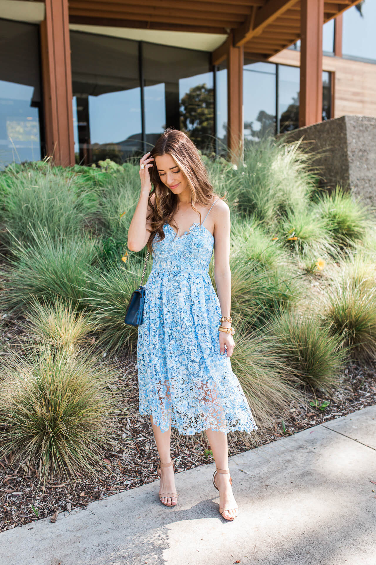 I love this pastel, feminine, pretty semi-formal dress! | M Loves M @marmar