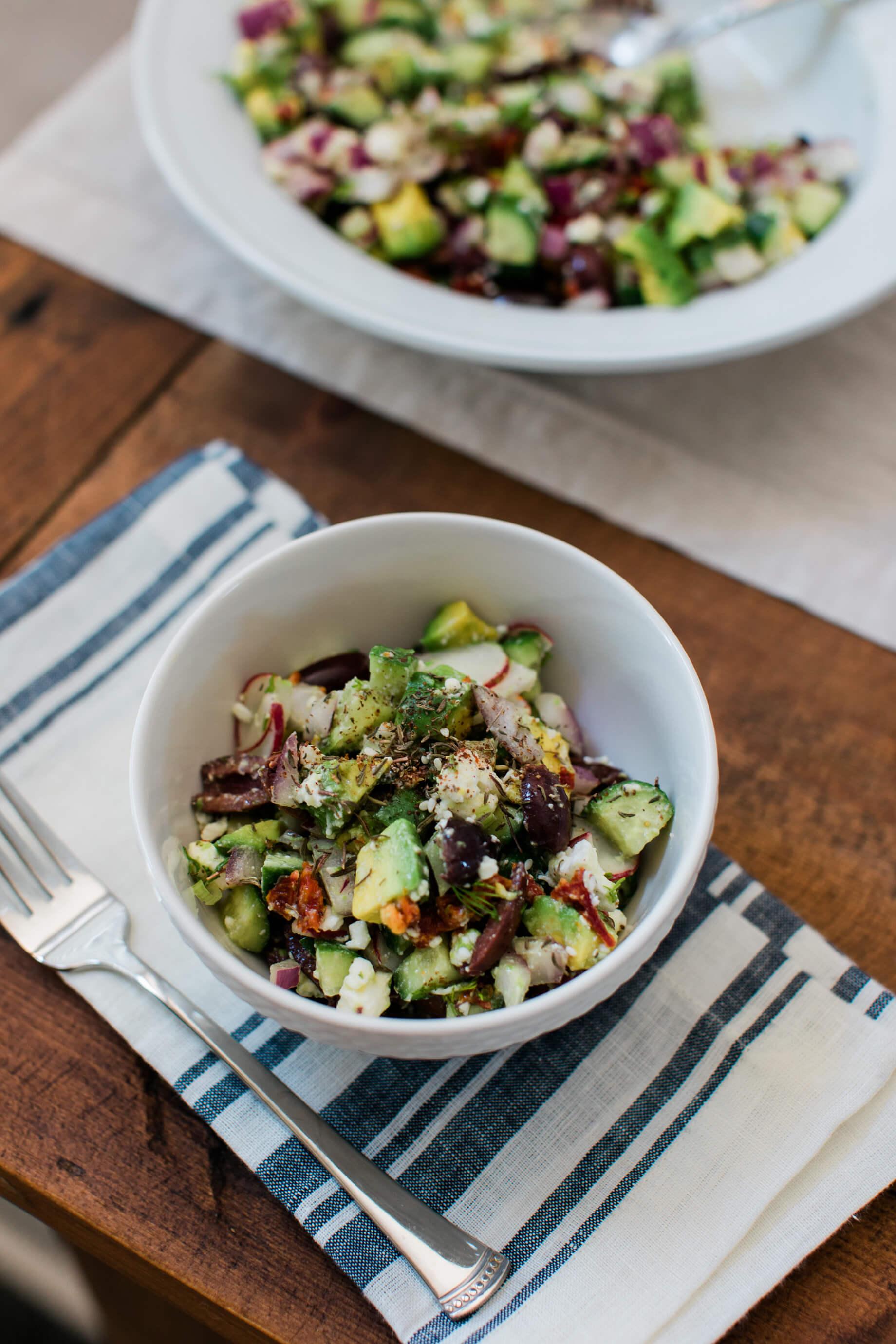 10 no heat summer recipes ideas including an avocado greek salad - M Loves M @marmar