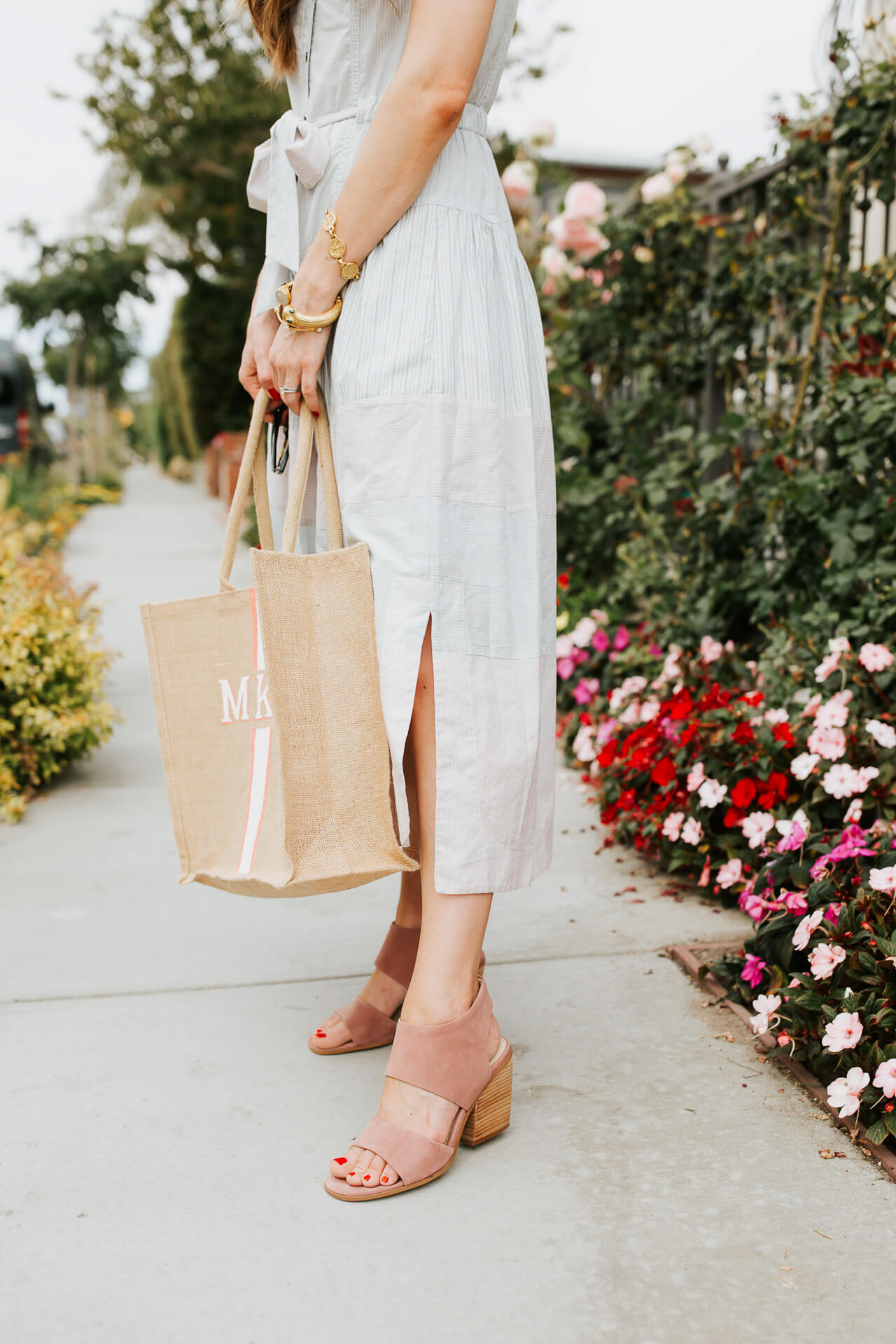 Pink suede mules are some of my favorite shoes! | M Loves M @marmar