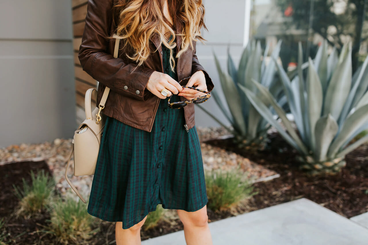 A plaid dress from Nordstrom that you can take summer outfit inspiration from as well as fall outfit inspiration from. | M Loves M @marmar