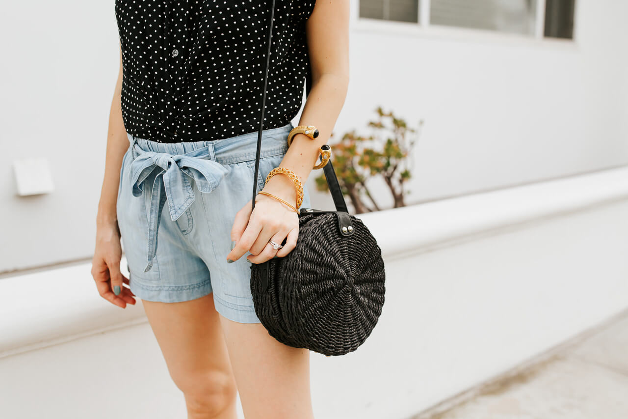 Bow shorts inspired by Audrey Hepburn. | M Loves M @marmar