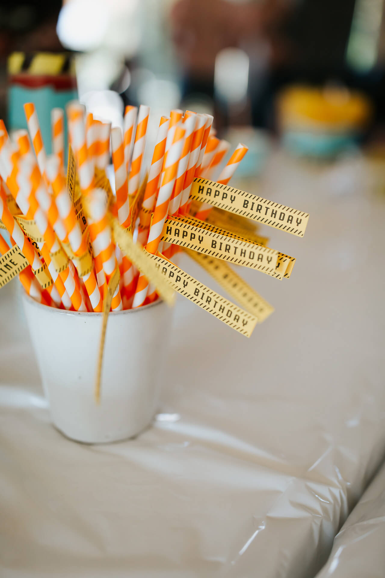 DIY party straws for kid's birthday party- M Loves M @marmar