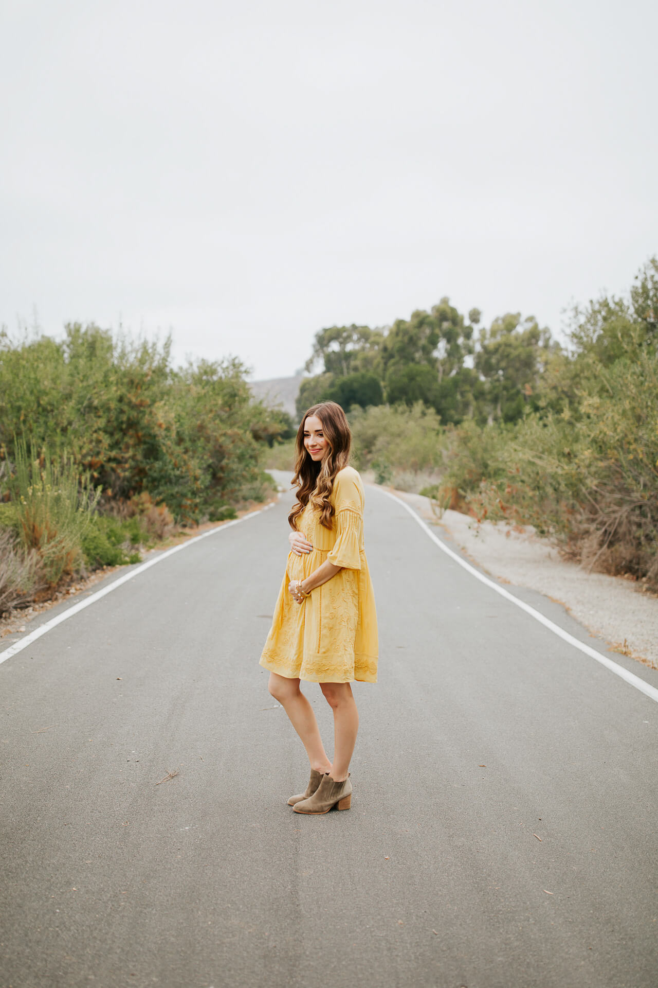 This gen z yellow maternity dress is so cute! | M Loves M @marmar