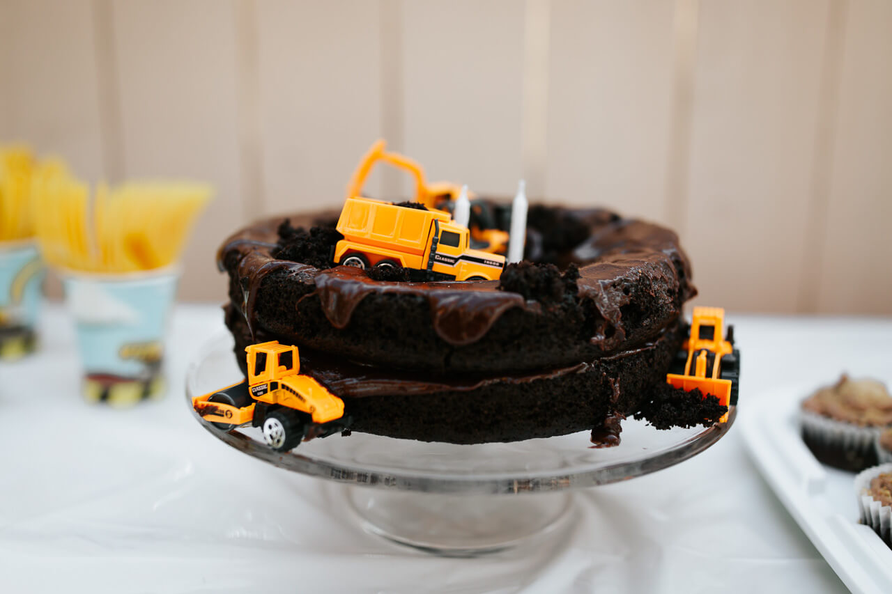 Astonishing Augustines Construction Truck 2Nd Birthday Party M Loves M Birthday Cards Printable Benkemecafe Filternl
