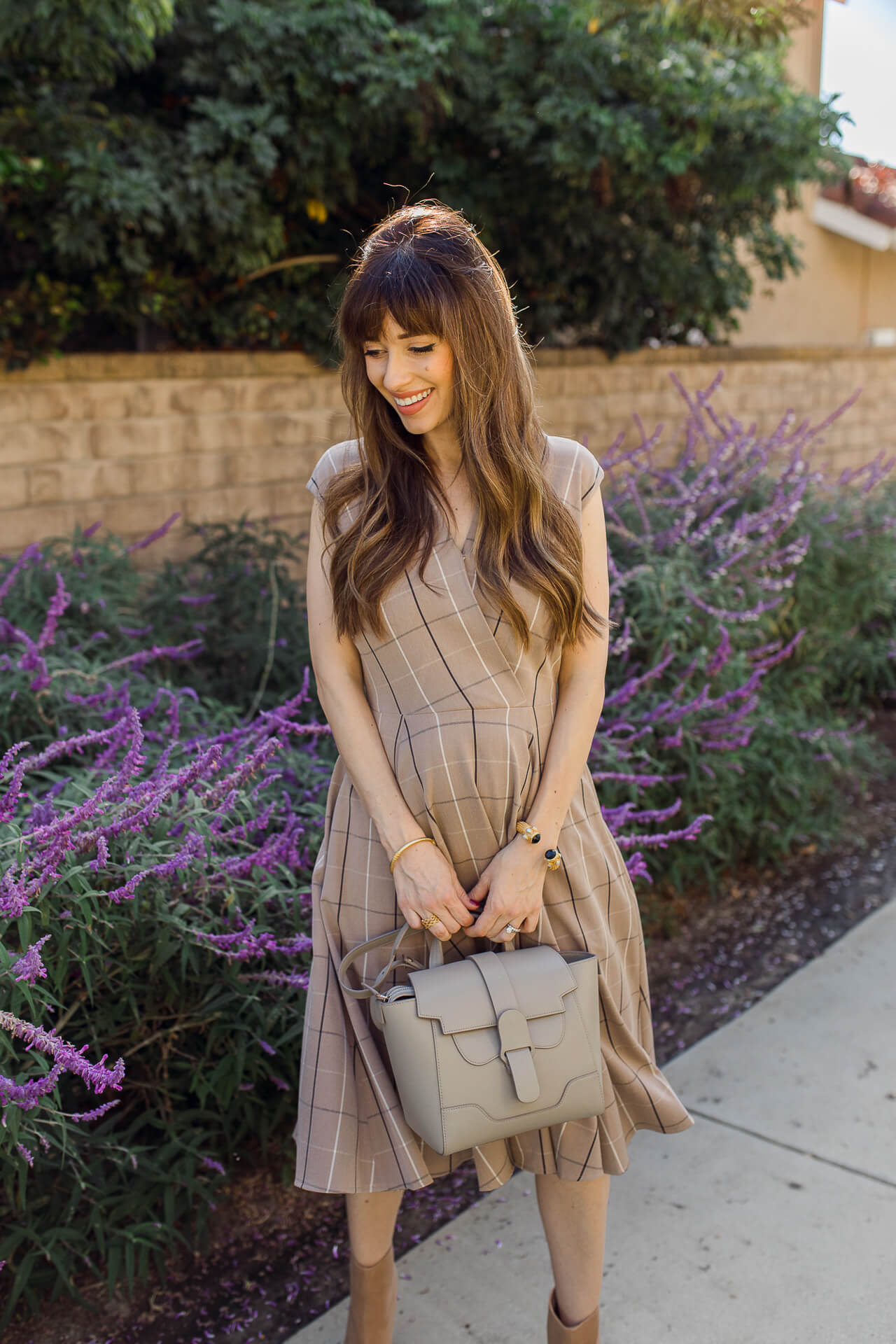 This grey structured handbag is the perfect work bag! - M Loves M @marmar