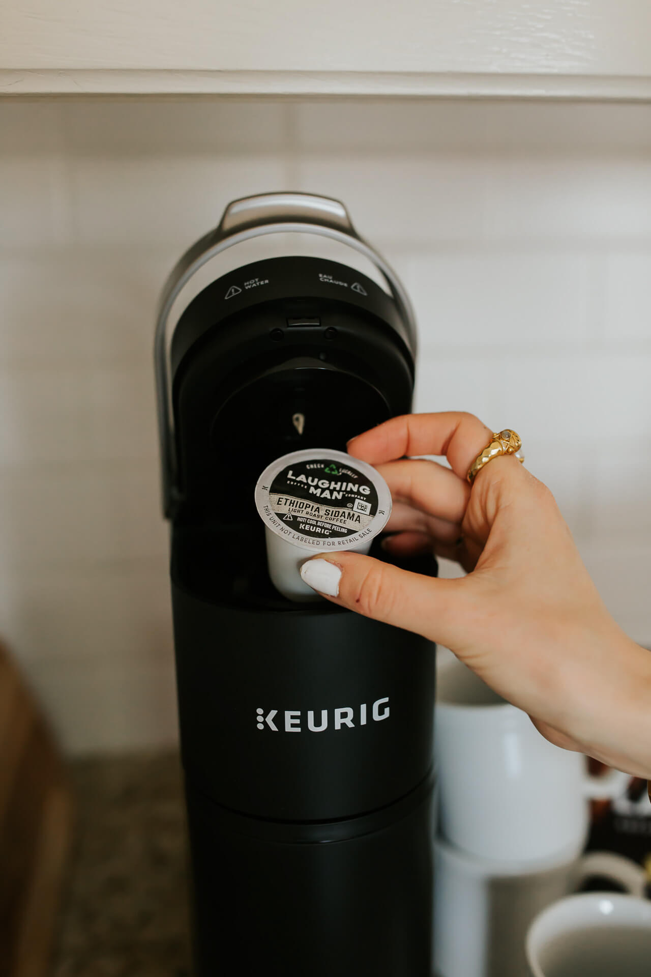 The Laughing Man pods for Keurig are so easy to use! - M Loves M @marmar