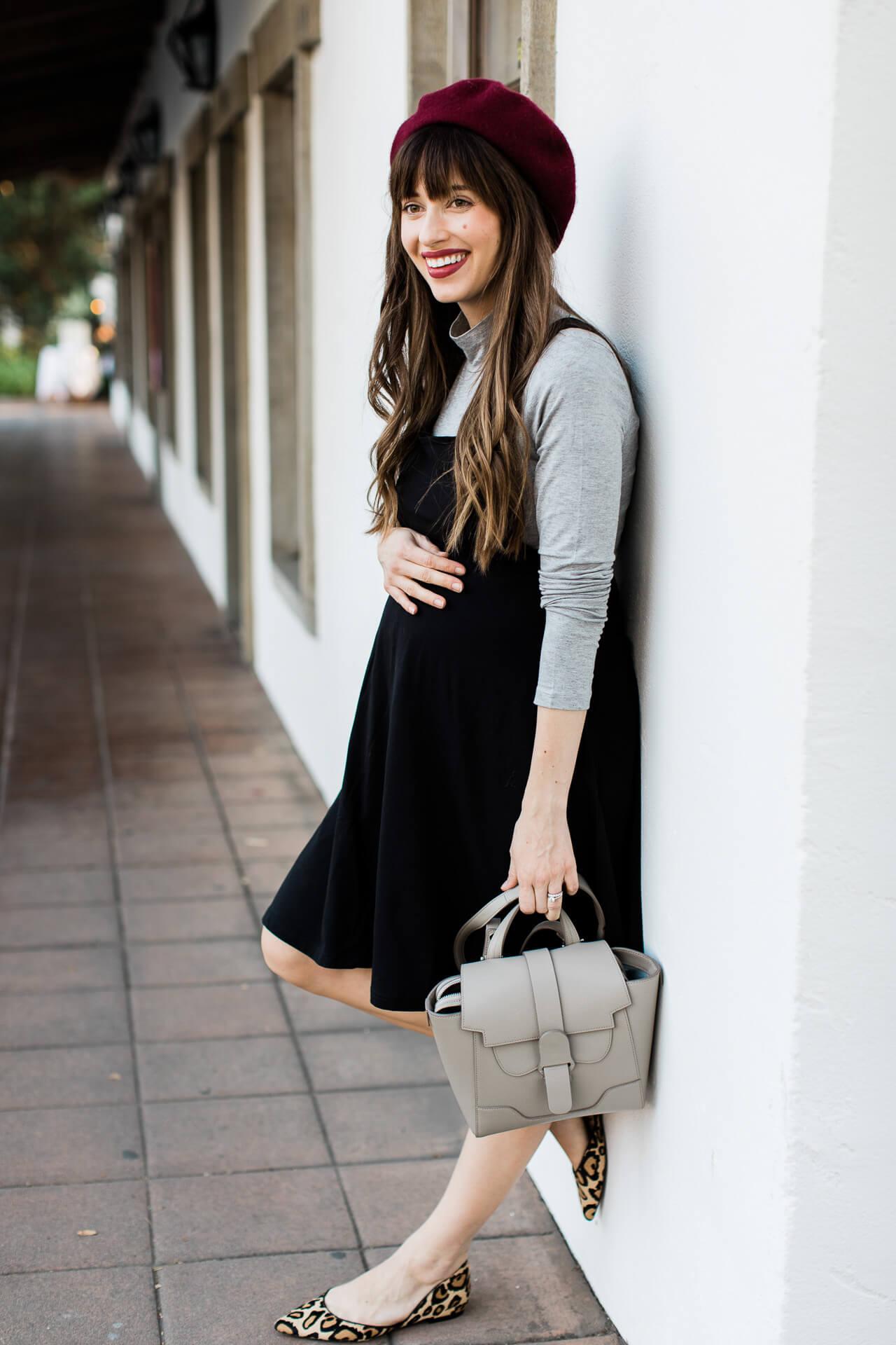 This short black maternity dress is so chic! - M Loves M @marmar