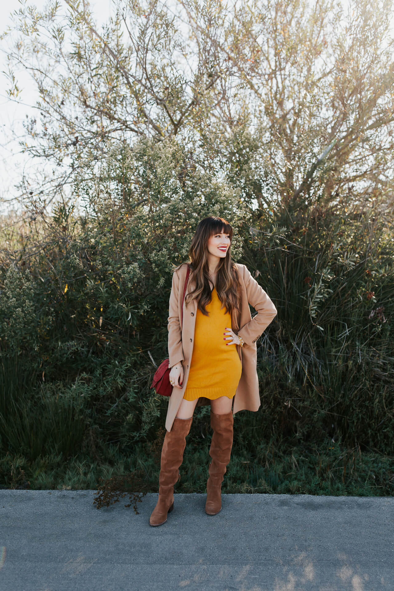 This yellow sweater dress is so chic for fall! - M Loves M @marmar