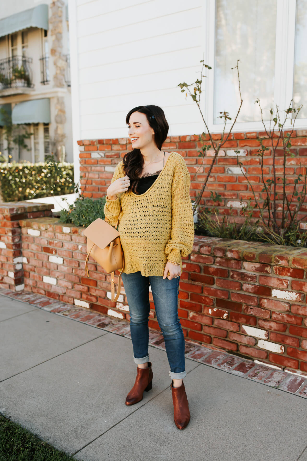 Love this mustard oversized sweater! - M Loves M @marmar