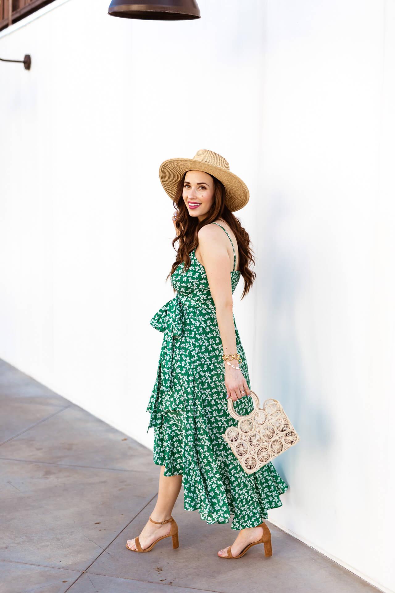 The prettiest green floral dress! - M Loves M @marmar