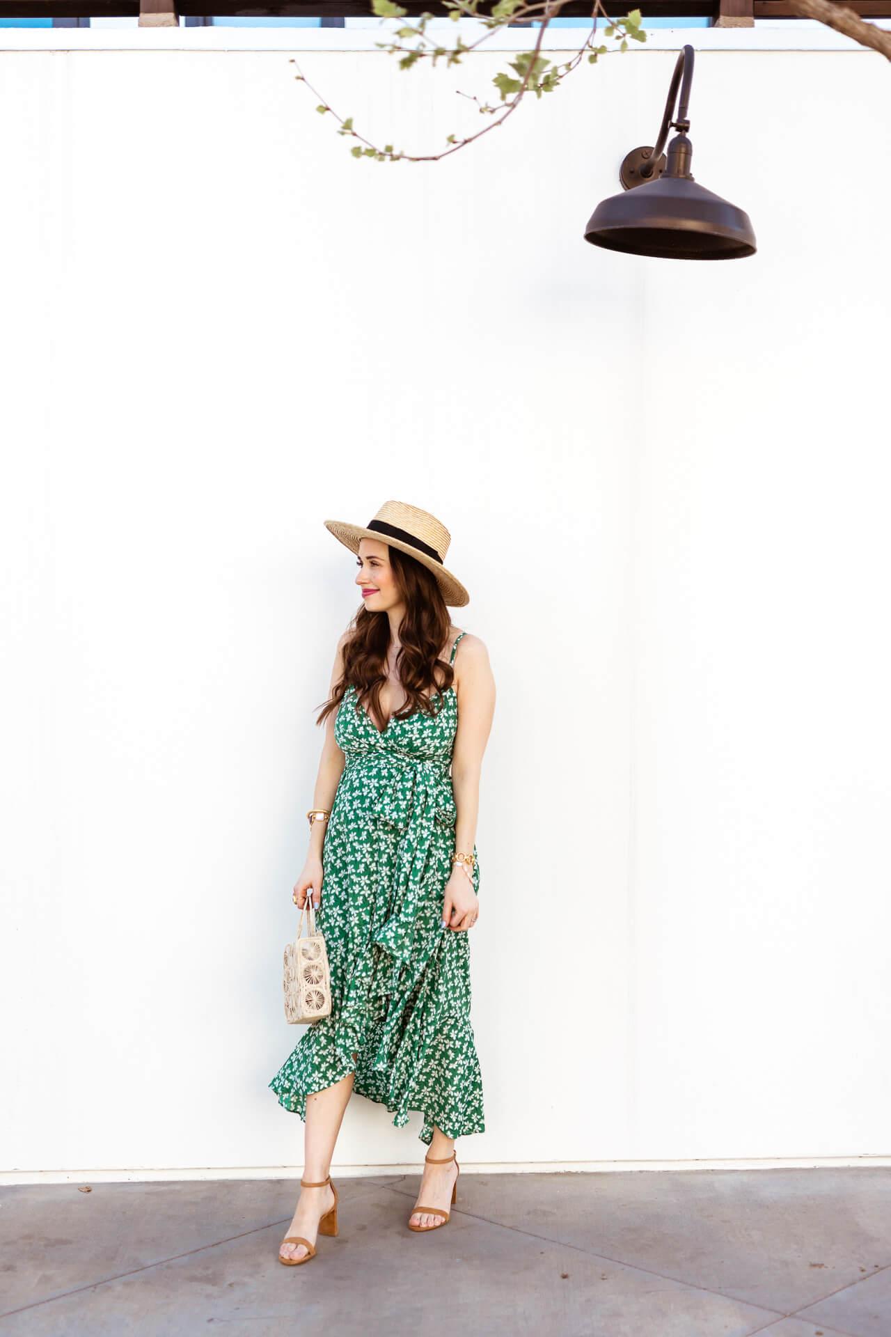A green floral maxi dress! - M Loves M @marmar
