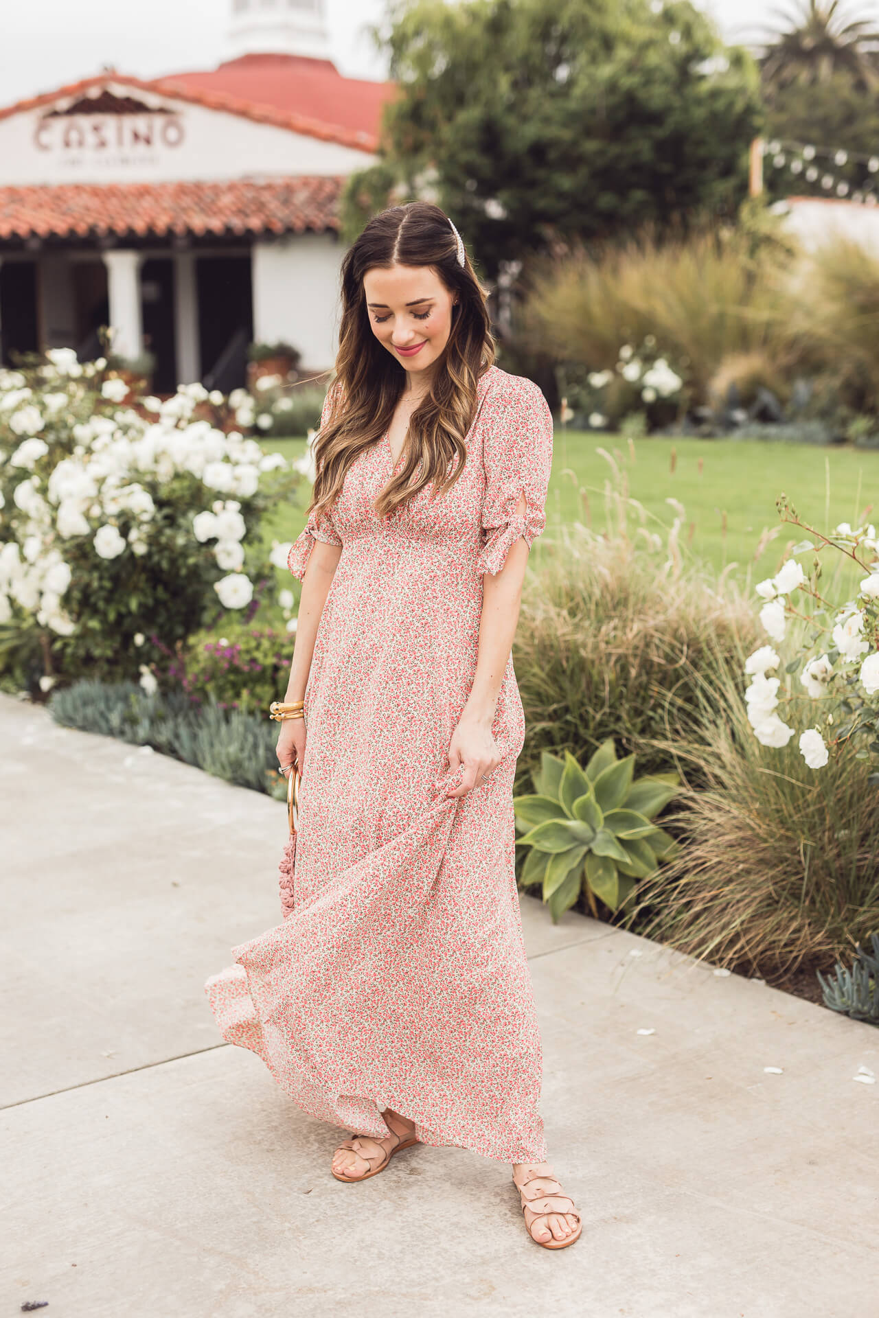 A Gal Meets Glam floral maxi dress! - M Loves M