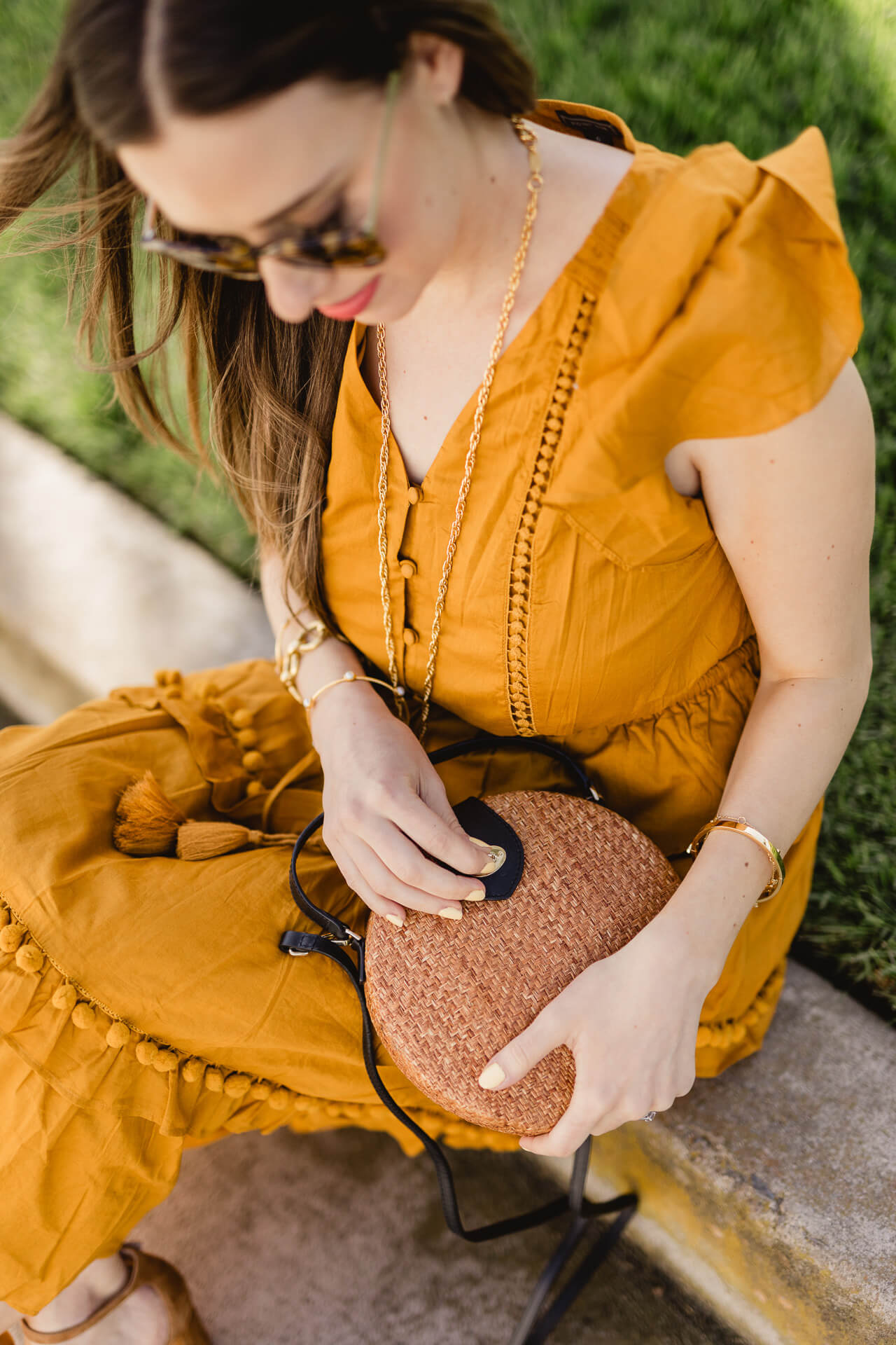 Love this mustard dress! - M Loves M
