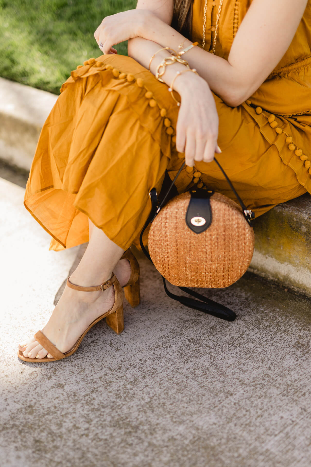 A perfect straw handbag with black leather trim! - M Loves M