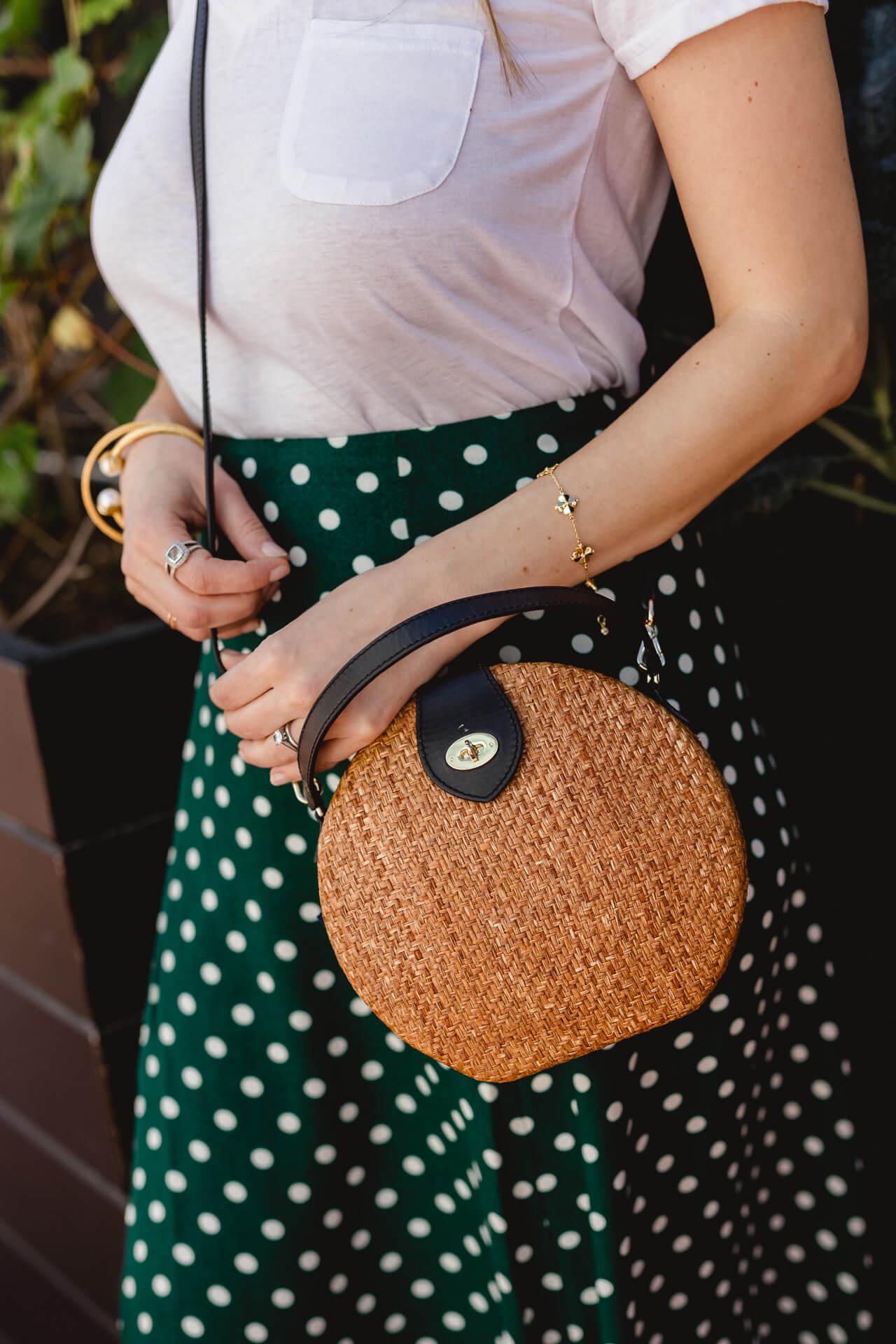 A cute green midi skirt! - M Loves M