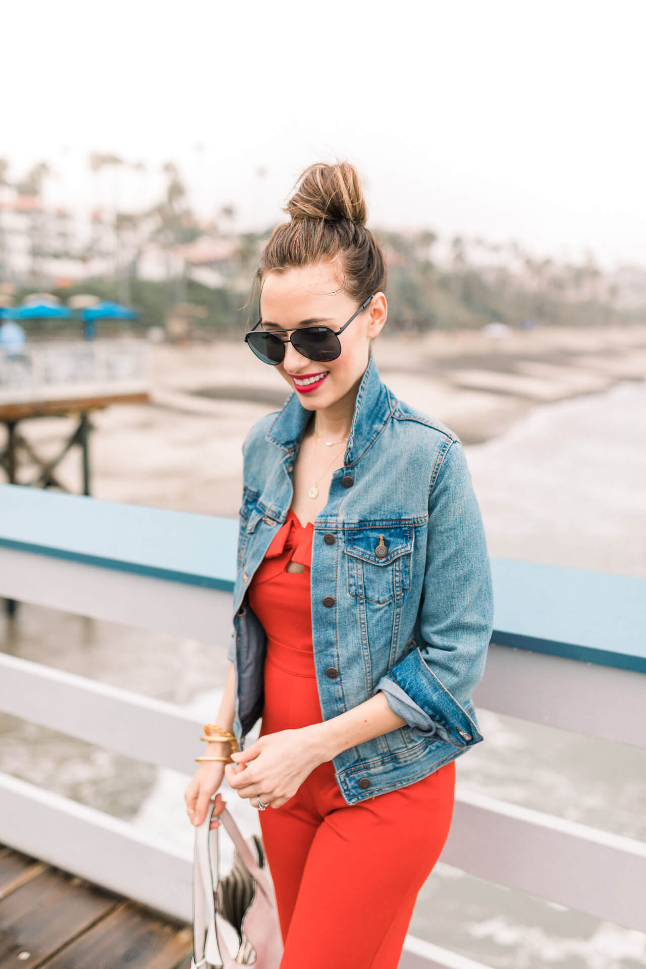 Love this red bow jumpsuit! Cute patriotic outfit inspiration! - M Loves M