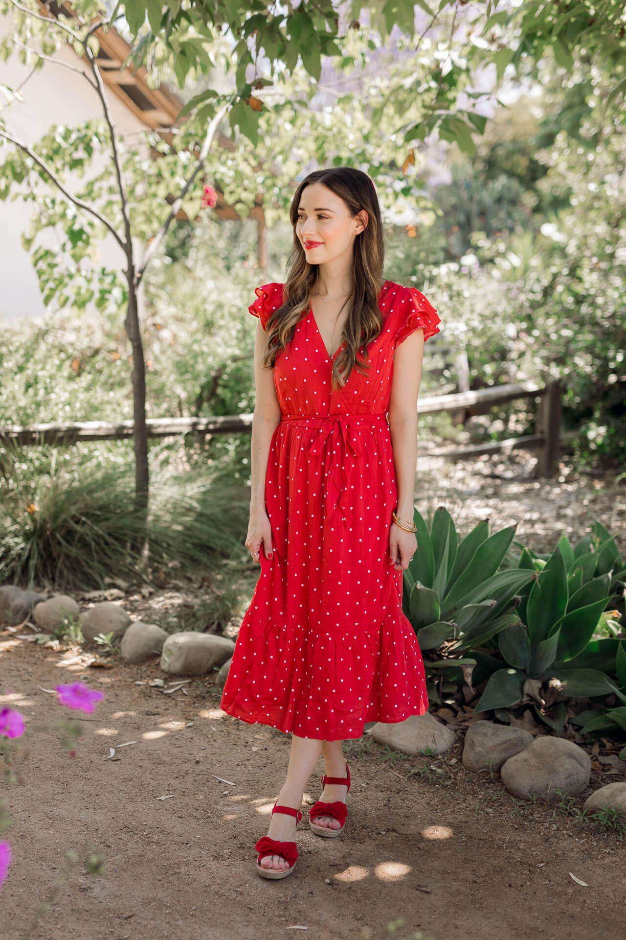 A red dress with polkadots! - M Loves M