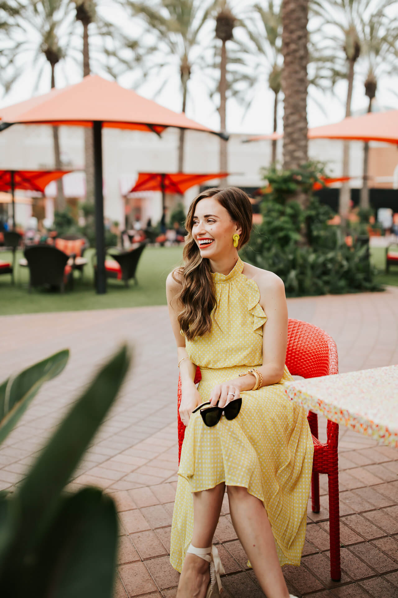 eliza j ruffled yellow halter dress - M Loves M @marmar
