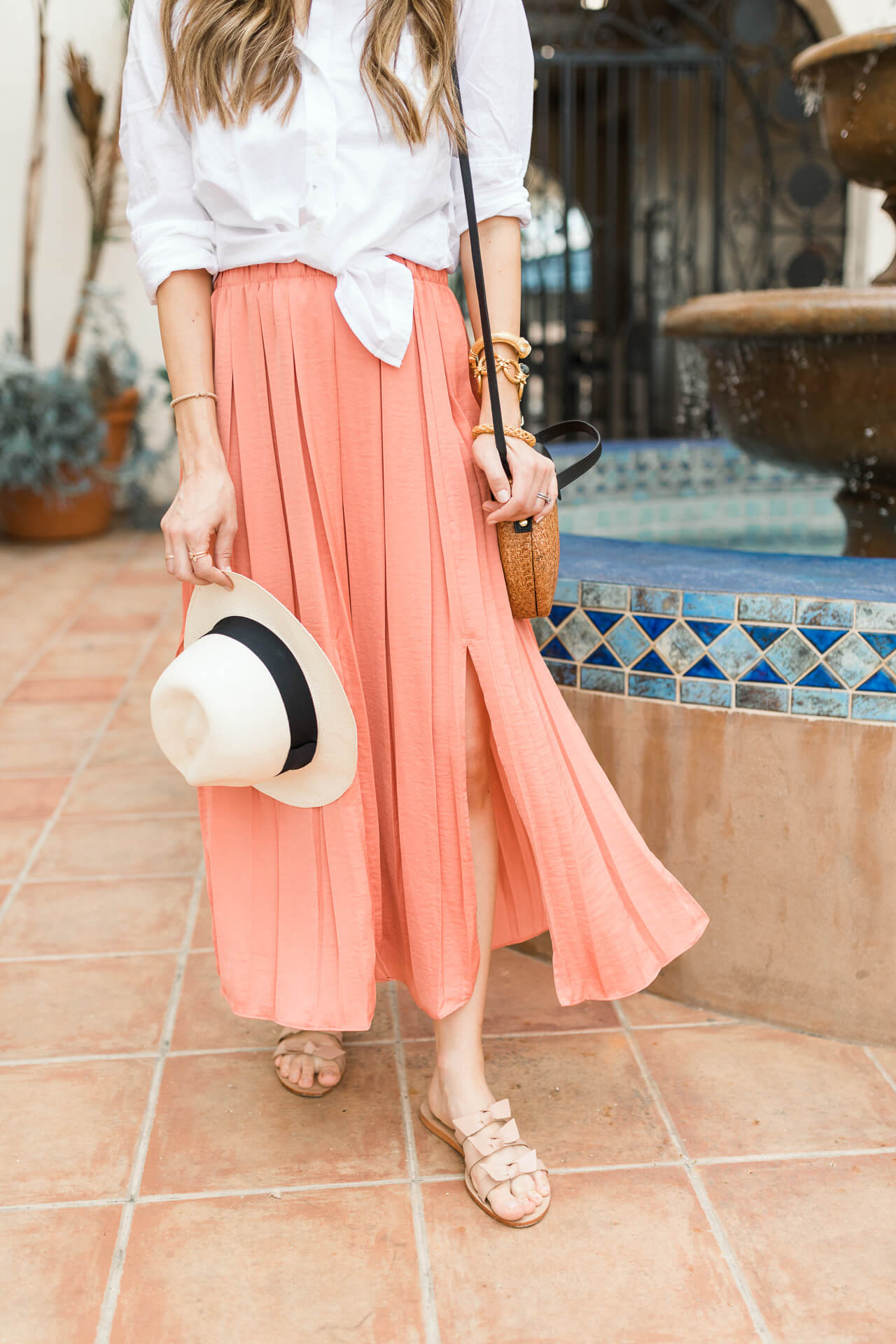 Pink pants and a linen shirt for summer! - M Loves M @marmar