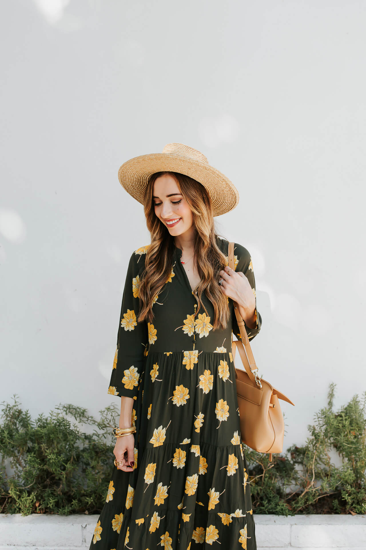 The cutest black floral maxi dress from Madewell! - M Loves M @marmar