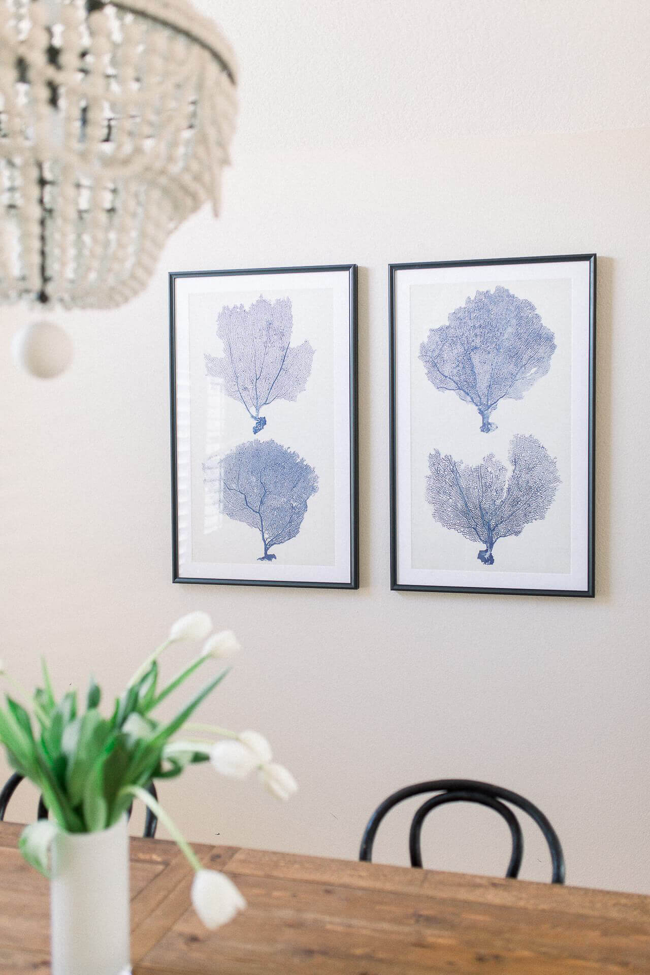 Here's some neutral dining room decor! - M Loves M @marmar