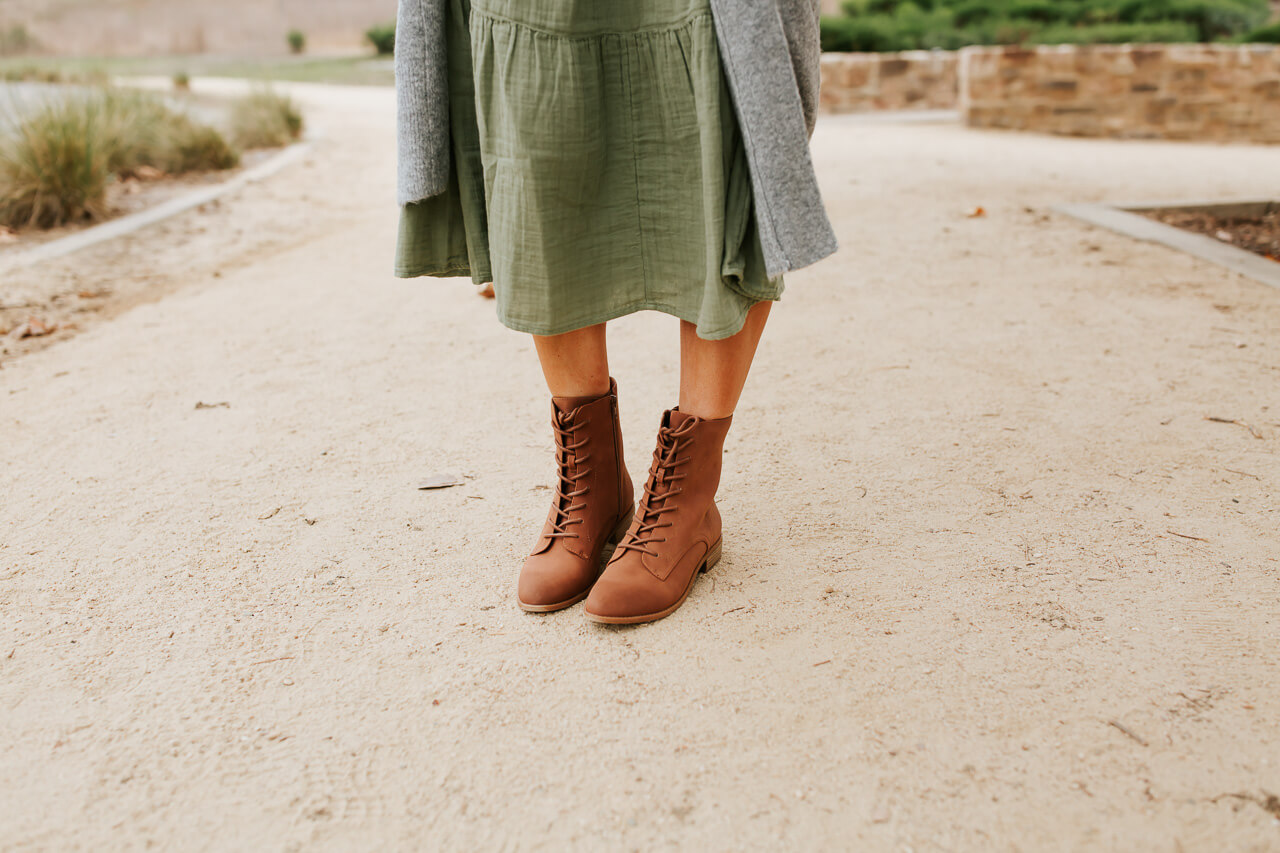 Lace up boots are perfect for fall