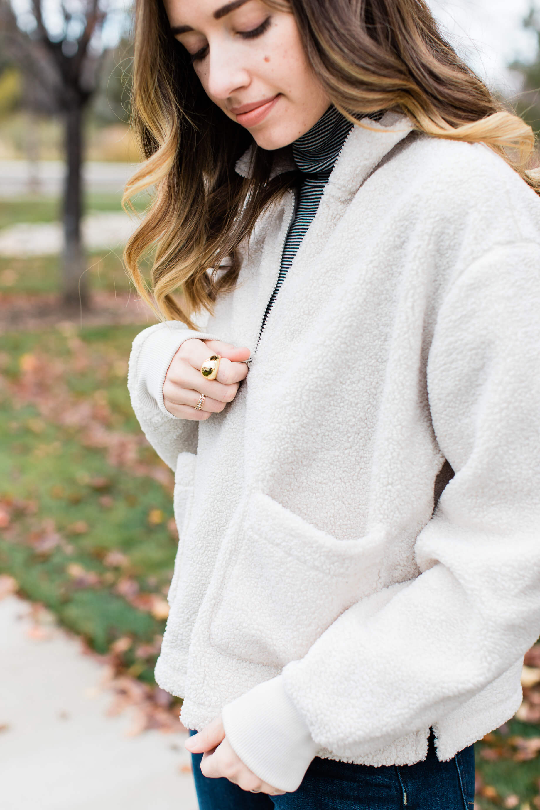 affordable sherpa pullover jacket with turtleneck - M Loves M @marmar