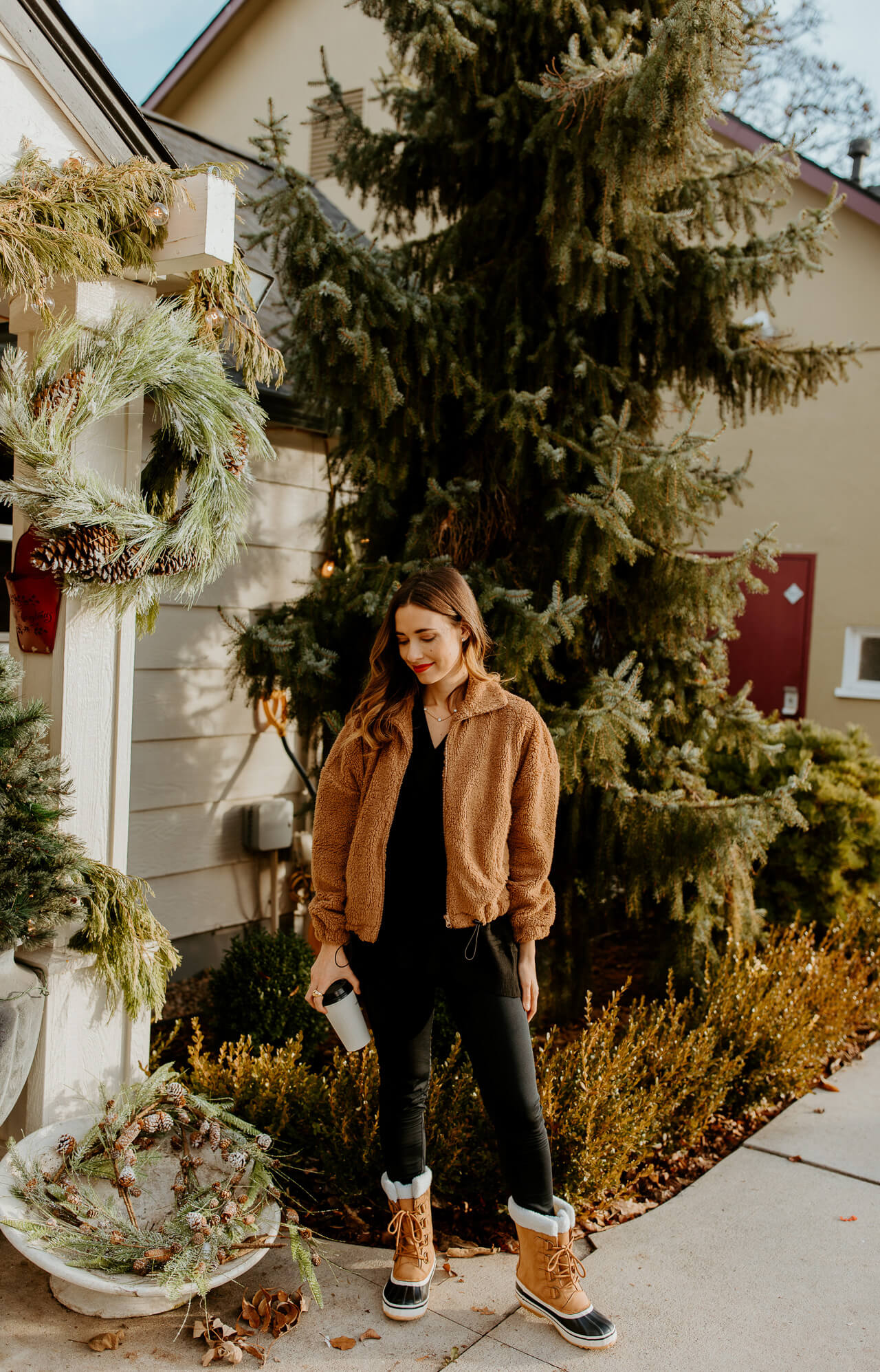 black and brown winter outfit - M Loves M @marmar