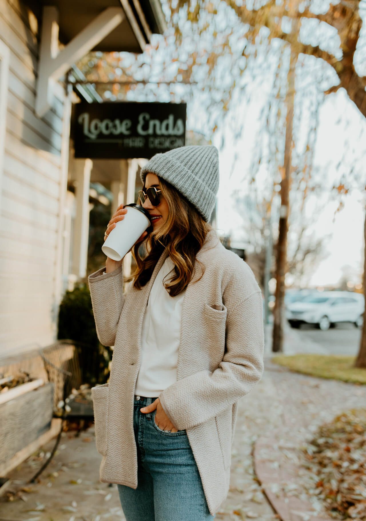 gray beanie outfit inspiration- M Loves M @marmar