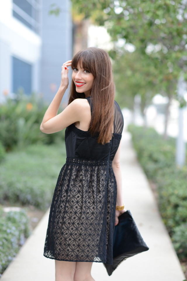 little black lace dress M Loves M @marmar