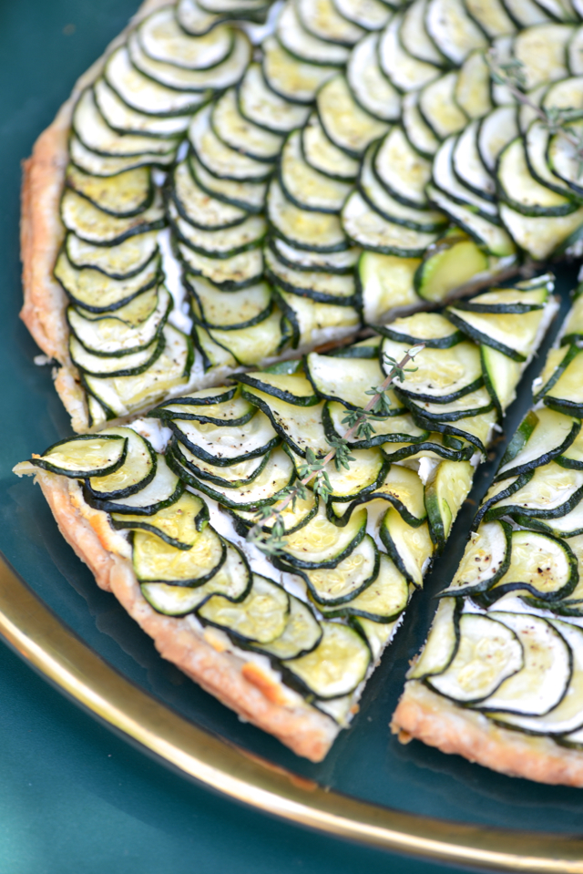 zucchini and goat cheese tart recipe M Loves M @marmar