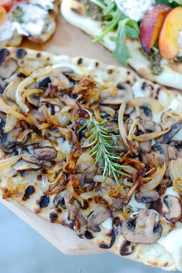 onion, mushroom and rosemary pizza M Loves M @marmar