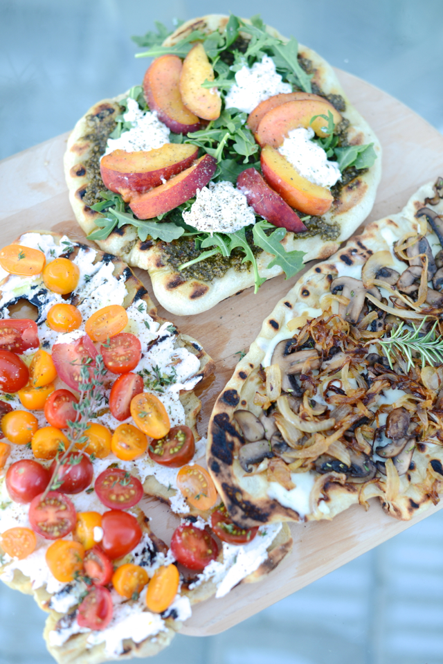 grilled pizza recipes three ways M Loves M @marmar