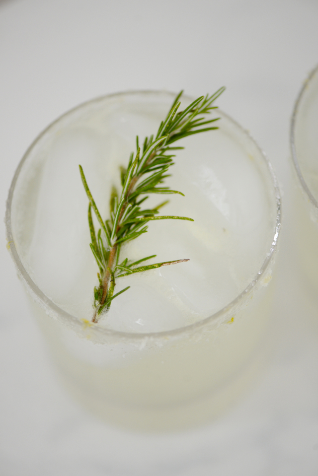 Lemon Rosemary & Cucumber Cocktail M Loves M @marmar