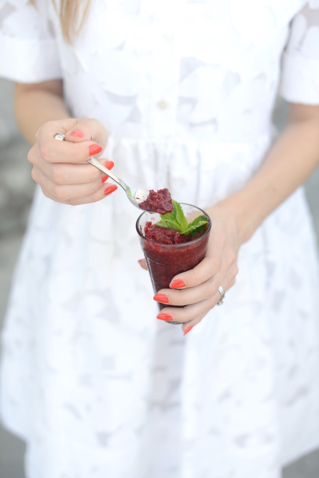 blackberry and mint iced granita dessert M Loves M @marmar