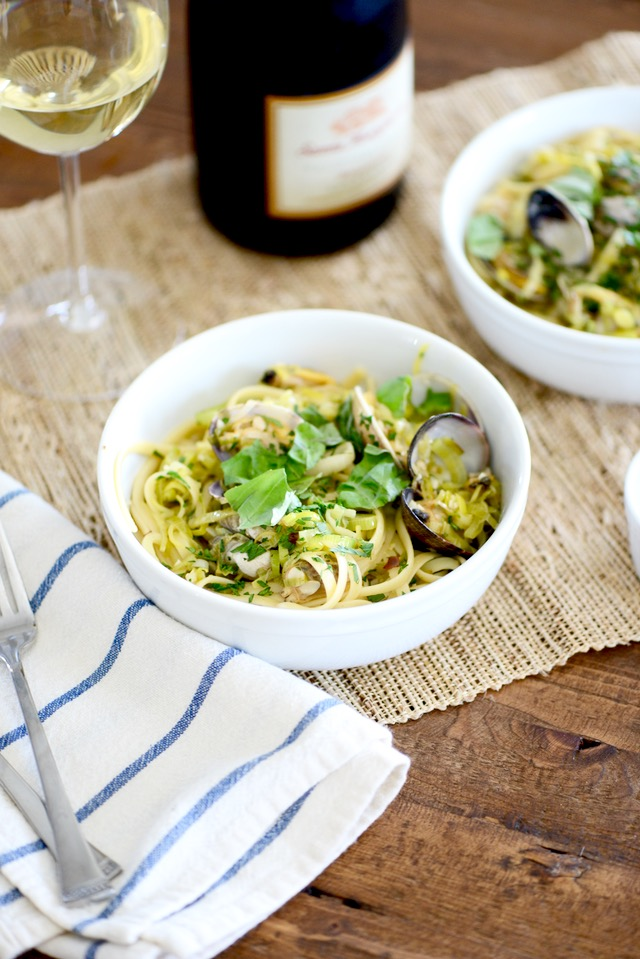 Linguine with Clams- good recipe for a date night at home M Loves M @marmar
