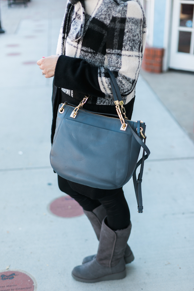 Corey Lynn Calter coat and gray Henri Bendel Soho Tote on M Loves M @marmar