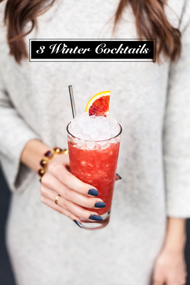 3 Winter Cocktails with The Whaling Club and M Loves M