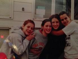 Photo of a photo of my old friends (pre-digi cam era).