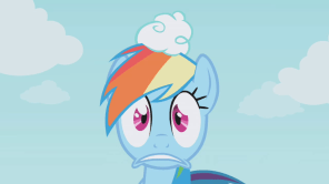 Rainbow Dash Frowning