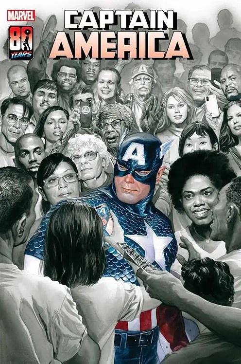 La copertina di Captain America # 30 di Alex Ross