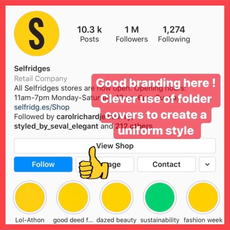 Instagram bio for fashion brands