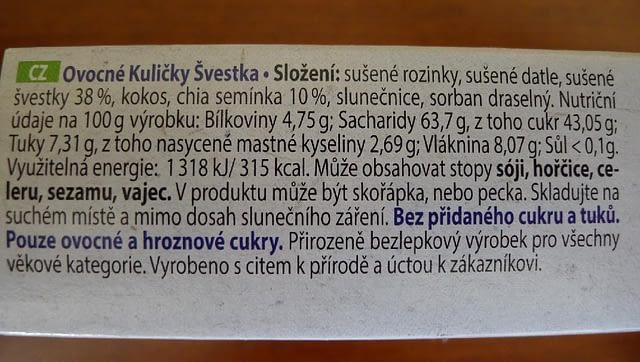Ovocné Kuličky - Švestka