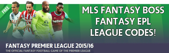15/16 Fantasy EPL League Codes