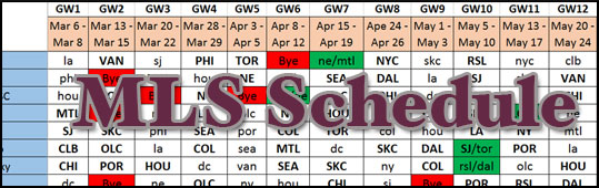 MLSFB Full 2016 Season Schedule - Preseason Draft 1